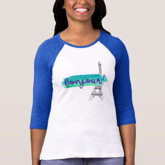 Bonjour Paris Eiffel Tower T-Shirt