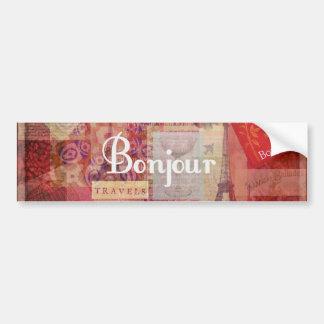 BONJOUR - Paris - France - French - Hello Car Bumper Sticker