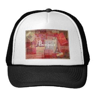 BONJOUR - Paris - France - French - Hello Hats