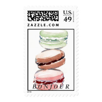 Bonjour Paris Macarons Stamp