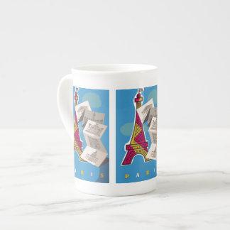 Bonjour París Taza De Porcelana