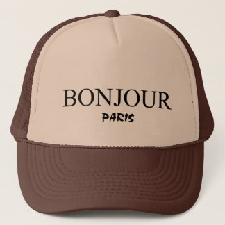 bonjour Paris Trucker Hat