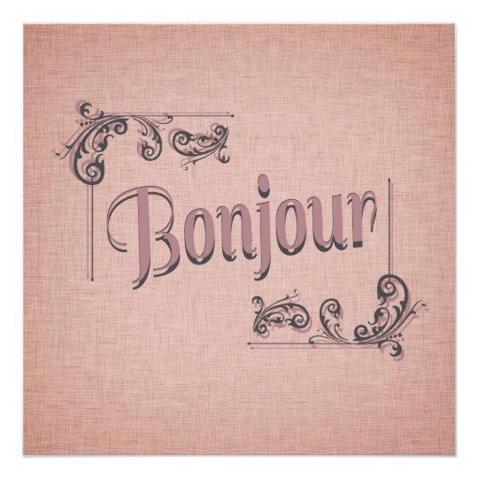 Bonjour Photography Print