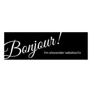 Bonjour! Profile Business Card