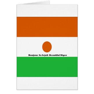 Bonjour  sa sejoli  Beautiful Niger.jpg Greeting Card