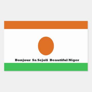 Bonjour  sa sejoli  Beautiful Niger.jpg Rectangular Sticker