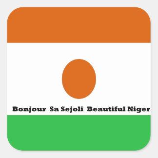 Bonjour  sa sejoli  Beautiful Niger.jpg Square Sticker