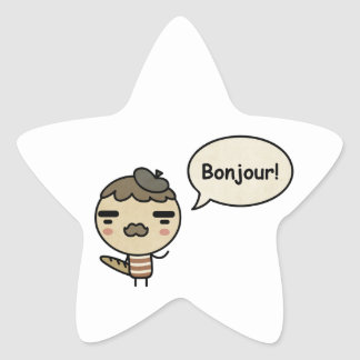 Bonjour! Star Sticker
