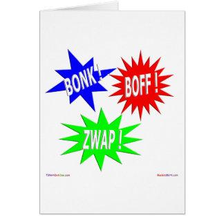 Bonk Boff Zwap Greeting Card