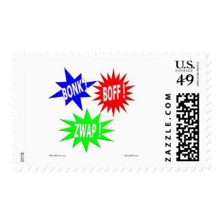 Bonk Boff Zwap Postage Stamps