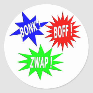 Bonk Boff Zwap Sticker