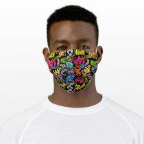 BONK ZAP CRASH Pattern Adult Cloth Face Mask