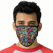 BONK ZAP CRASH Pattern Face Mask