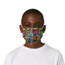 BONK ZAP CRASH Pattern Kids' Cloth Face Mask