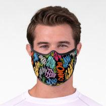 BONK ZAP CRASH Pattern Premium Face Mask