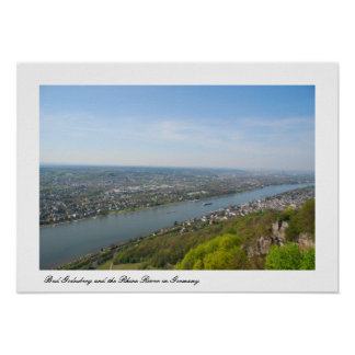 Bonn Bad Godesberg & the Rhine river Poster