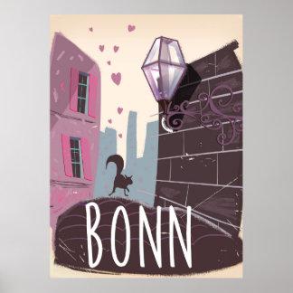 Bonn Germany Vintage style travel poster