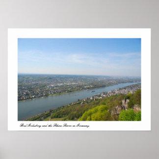 Bonn mún Godesberg y el río Rhine Póster