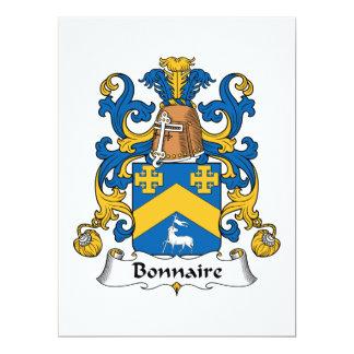 Bonnaire Family Crest Invitations