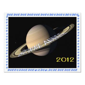 BONNE ANNEE 2012 HAPPY NEW YEAR INVITACIÓN 10,8 X 13,9 CM