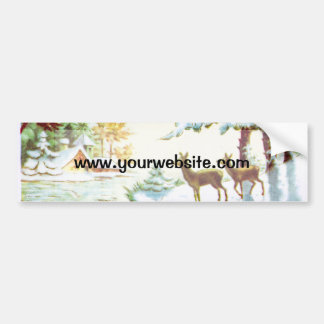 Bonne Annee Deer In The Snow Bumper Sticker