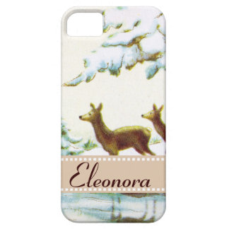 Bonne Annee Deer In The Snow iPhone 5 Cases