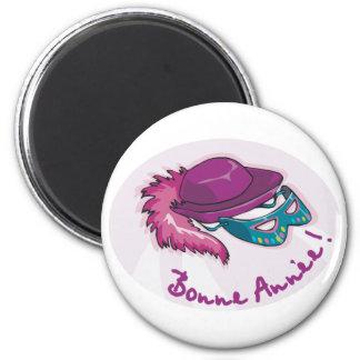 Bonne Annee Fancy Dress 2 Inch Round Magnet