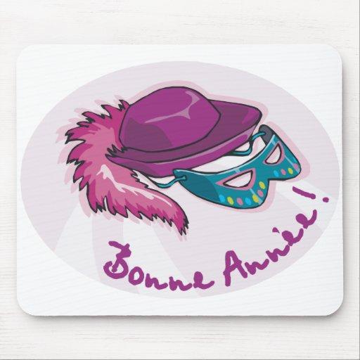 Bonne Annee Fancy Dress Mouse Pads