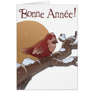 Bonne Année Greeting Card