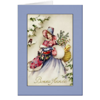 Bonne Annee Holiday Greetings Cards