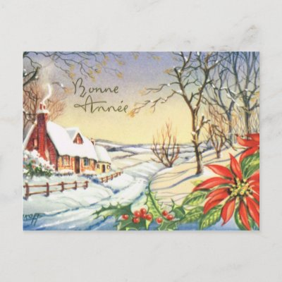 bonne annee vintage french new year postcard zazzlecom