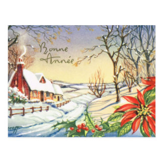 Bonne Annee, Vintage French New Year card