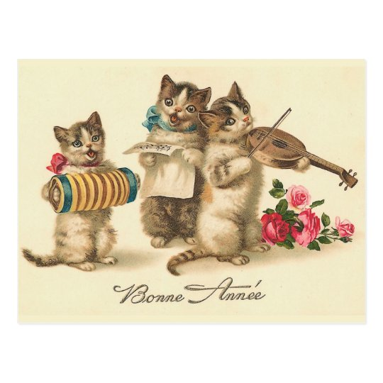 """Bonne Annee"" Vintage French New Year Postcard"