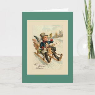 bonne et heureuse annee french new year card