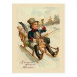 """Bonne et heureuse Annee"" New Year Card Postcard"