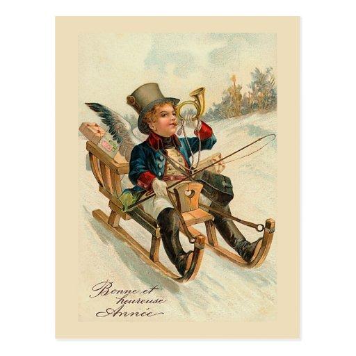 """Bonne et heureuse Annee"" New Year Card Postcards"