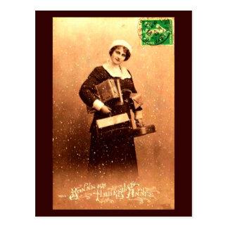 Bonne et Heureuse Annee Postcard