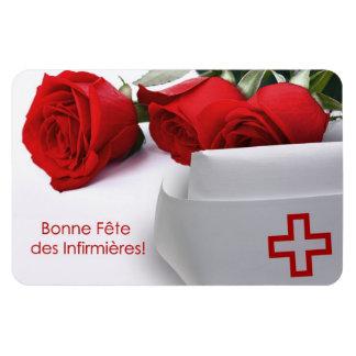 Bonne Fête des Infirmières. Gift Magnet in French