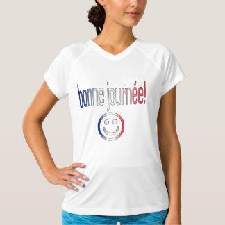 Bonne Journée! French Flag Colors Shirt