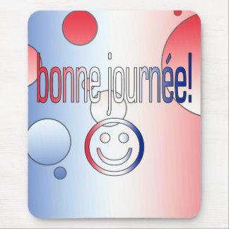 ¡Bonne Journée! La bandera francesa colorea arte Mousepads