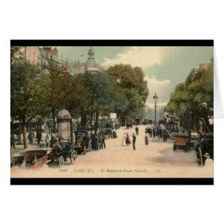 Bonne-Nouvelle del bulevar, vintage 1910 de París Tarjeta De Felicitación