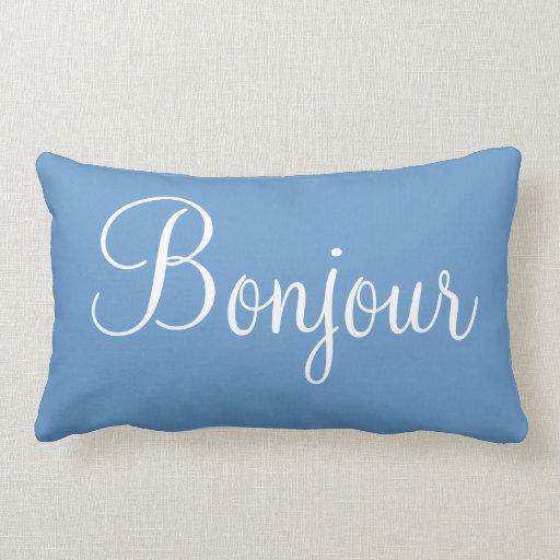 Bonne nuit bonjour decorative bedroom accent pillow zazzle - Bedroom throw pillows ...