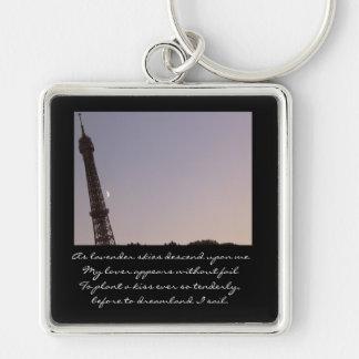 Bonne nuit, Paris! Keychain