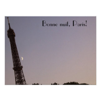 Bonne nuit, Paris! Poster