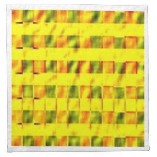 BonneAppetit - cuadrados amarillos de oro ricos Servilleta Imprimida
