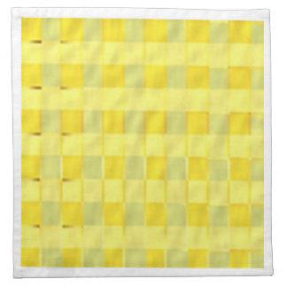 BonneAppetit - cuadrados amarillos de oro ricos Servilletas Imprimidas