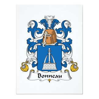 Bonneau Family Crest Custom Announcements