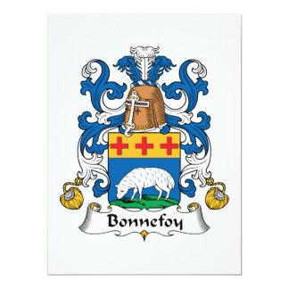 Bonnefoy Family Crest Personalized Announcement