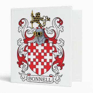 Bonnell Family Crest 3 Ring Binder