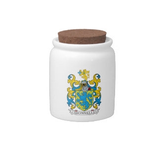 Bonnell Family Crest Candy Jar